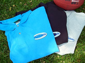 Huddle shirts with logo